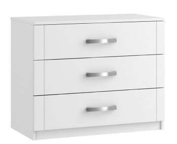Aretina White 3 Drawer Midi Chest