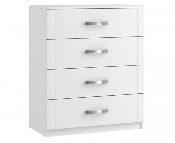 Aretina White 4 Drawer Midi Chest