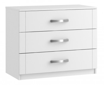 Aretina White 3 Drawer Chest