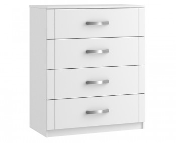Aretina White 4 Drawer Chest