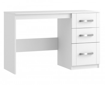Aretina white 5 drawer narrow chest frances hunt for Narrow dressing table with drawers