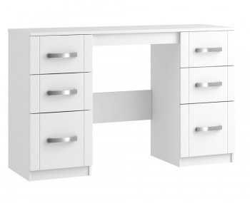 Aretina White Double Dressing Table