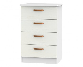 Castle White and Copper 4 Drawer Midi Chest