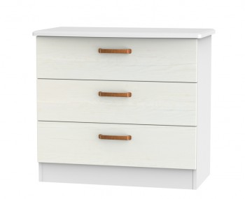 Castle White and Copper 3 Drawer Chest
