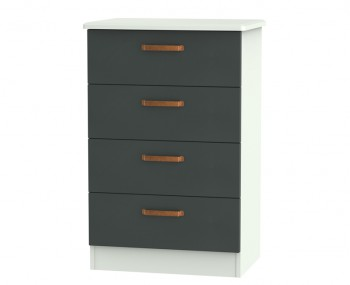 Castle Graphite and Copper 4 Drawer Midi Chest