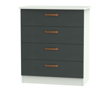 Castle Graphite and Copper 4 Drawer Chest