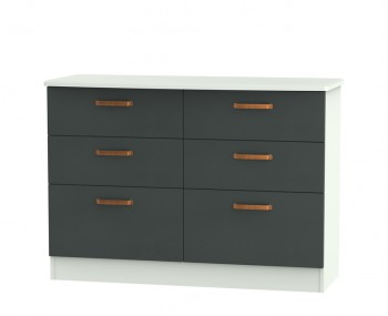Castle Graphite and Copper 6 Drawer Wide Chest