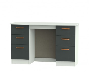 Castle Graphite and Copper Double Dressing Table