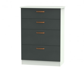 Castle Graphite and Copper 4 Drawer Deep Chest