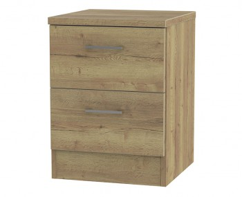 Devon Sterling Oak 2 Drawer Bedside Chest