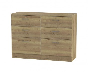 Devon Sterling Oak 6 Drawer Midi Chest