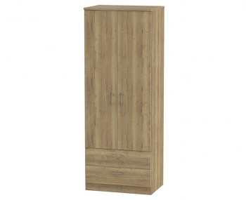 Devon Sterling Oak 2 Door 2 Drawer Tall Wardrobe