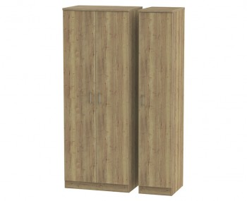 Devon Sterling Oak 3 Door Tall Wardrobe