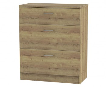 Devon Sterling Oak 3 Drawer Deep Chest