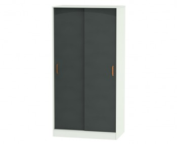 Castle Graphite and Copper Sliding Wardrobe