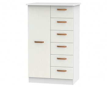 Castle White and Copper Children's Wardrobe