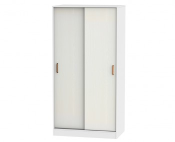 Castle White and Copper Sliding Wardrobe