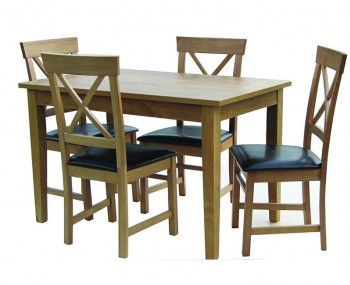 Stockholm Oak Medium Kitchen Table ONLY