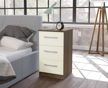 Laura 3 Drawer Bedside Chest