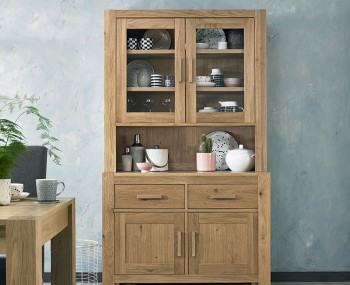 Ventura Light Oak Glazed Display Unit