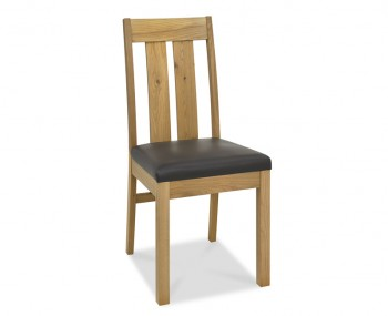 Ventura Light Oak Slatted Dining Chairs