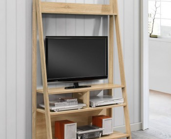 Nordic Oak Tall TV Unit