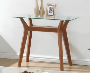 Newport Walnut and Glass Console Table *Special Offer*