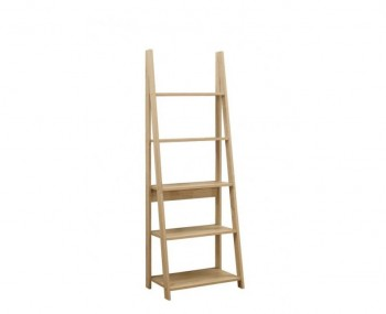 Nordic Oak Ladder Bookcase with Shelves