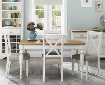 Hampstead Two-Tone Rectangular Extending Dining Set
