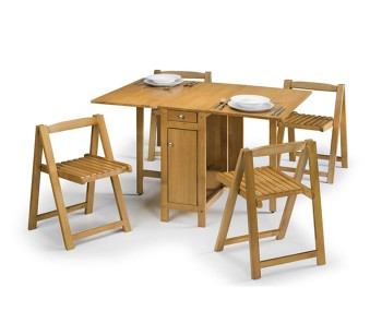 Aldwych Light Oak Gateleg Table Set