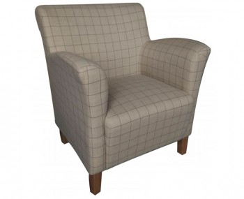 Leven Sand Scottish Plaid Upholstered Armchair *Special Offer*