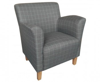 Leven Graphite Scottish Plaid Upholstered Armchair *Special Offer*