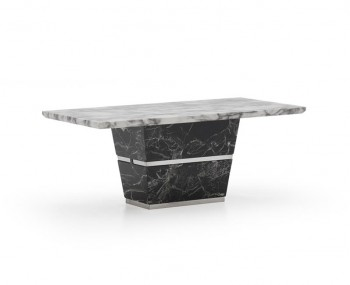 Valdina Black and White Marble Coffee Table