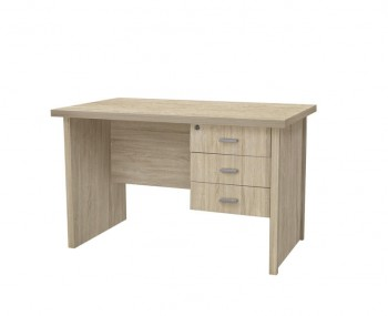 Benji Medium Wooden 3 Drawer Desk