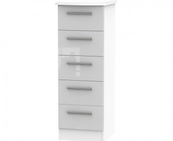 Bishop Kashmir High Gloss 5 Drawer Narrow Chest *Special Offer*