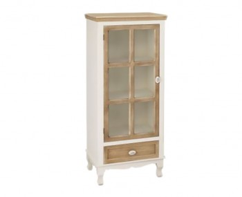 Candace Two-Tone Glass Display Unit