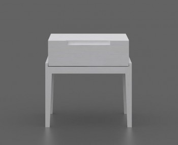 Magnolia 1 Drawer White Night Stand