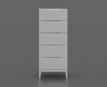 Magnolia 5 Drawer White Narrow Chest