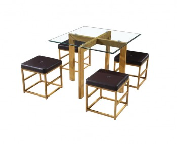 Cube Brown Square Dining Set