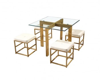 Cube Cream Square Dining Set