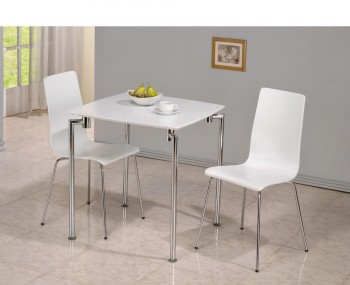 Wonderful Dove Square White Breakfast Table