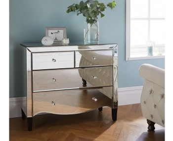 Palermo Mirrored 2+2 Drawer Chest