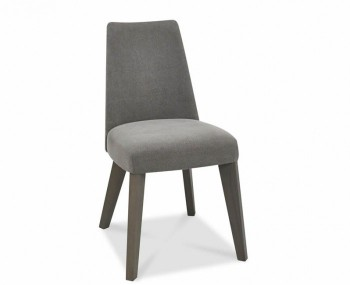 Cadell Oak And Smoke Grey Upholstered Dining Chair Set of 2 *Special Offer*