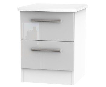 Bishop Kashmir High Gloss 2 Drawer Bedside Chest *Special Offer*