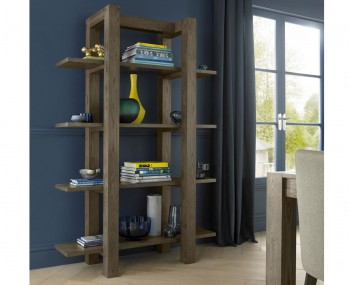 Ventura Dark Oak Open Shelf Unit