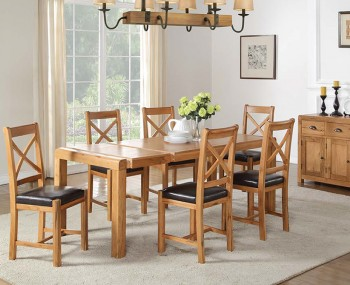 Cliff Oak Large Dining Set