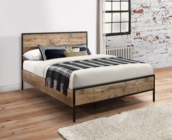 Ashvale Urban Rustic Effect Wooden Bed Frame