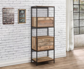 Ashvale Urban Wooden 3 Drawer Shelving Unit