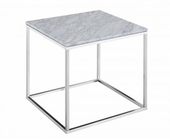 Mulberry Marble and Nickel Lamp Table