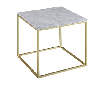 Mulberry Marble and Gold Lamp Table